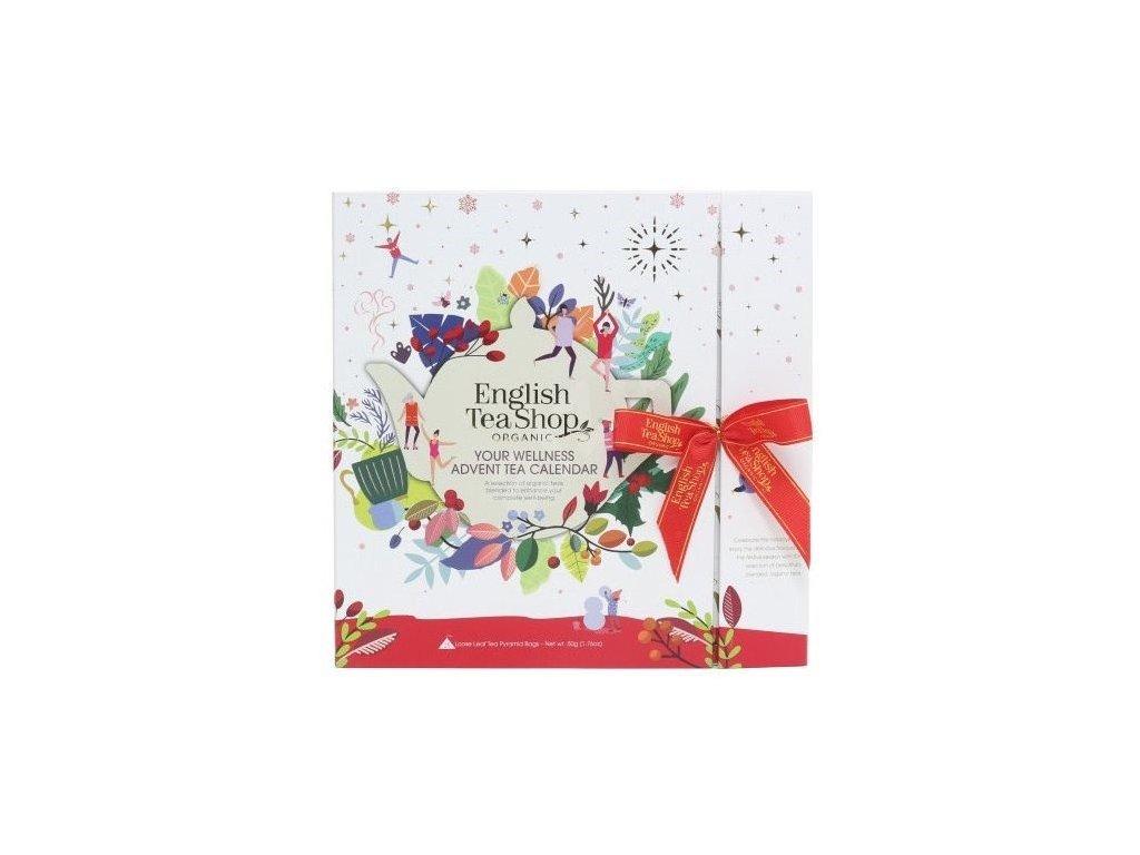 Bílý čajový adventní kalendář kniha 25s