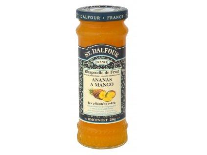 St. Dalfour džem ananas a mango ovocná pomazánka 284g