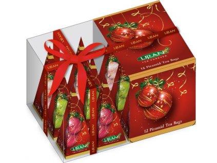 Liran Vánoční pyramidové čaje Kouličky 12ks