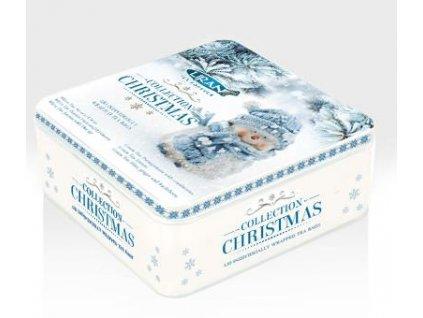Liran Dárkový vánoční plech plný čajů motiv Sněhulák 6x20x1,5g