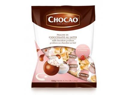 Vergani Čokoládová pralinka s náplní jogurt jahoda 1kg