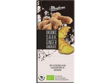 Meybona Bio hořká čokoláda se zázvorem 100g