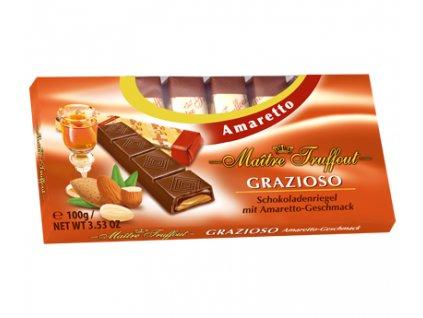 Maitre Truffout Čokoláda Grazioso Amaretto 100g
