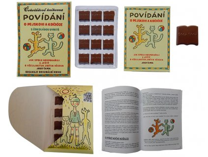 Fikar Čokoládová knihovna Povídání o pejskovi a kočičce 60g