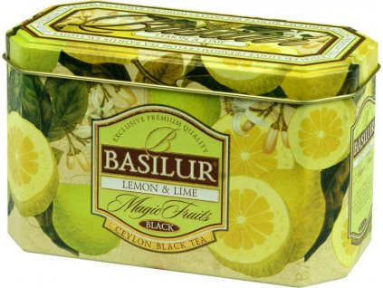 Basilur Magic Fruit Lemon & Lime plech 20x2g
