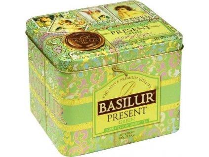 Basilur Present Green plech Zelený čaj s příchutí 100g