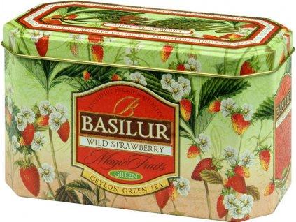 Basilur Wild Strawberry Zelený čaj 20x2g