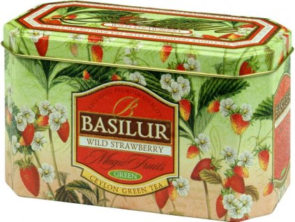 Basilur Wild Strawberry Zelený čaj 20x2g