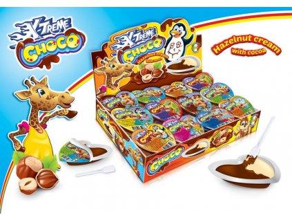 X-treme Choco Hearts dvoubarevná čokoládová Nugeta 15g 48ks