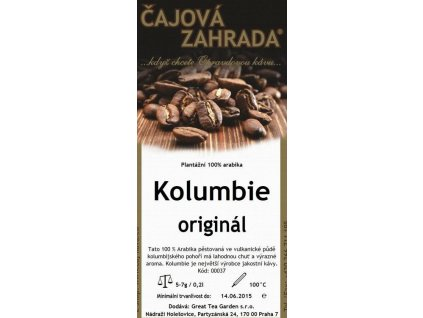 Mletá káva Kolumbie sáček 200g