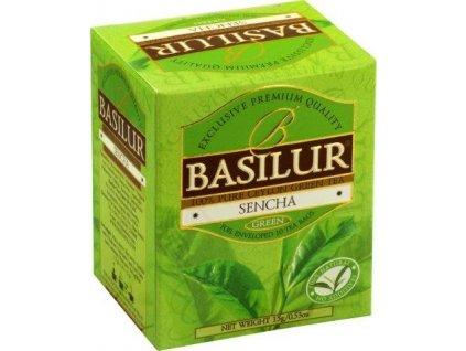 Basilur Zelený porcovaný čaj Sencha 10x1,5g
