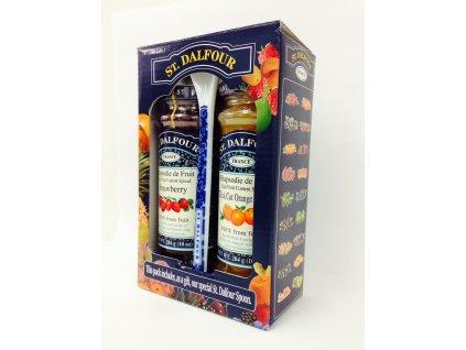 ST. Dalfour Dárkové balení ovocné pomazánky + lžička 2x284g