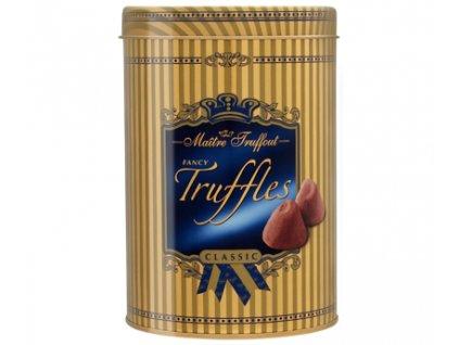 Maitre Truffout Fancy Truffles Classic mléčné čokoládové lanýže v plechové dóze 500g