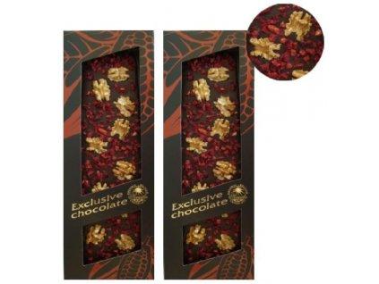Severka Exklusivní hořká čokoláda s vlašskými ořechy a višněmi 120g