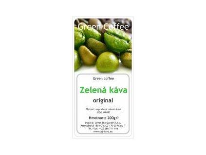 Great Garden Tea zelená káva mletá sáček 200g