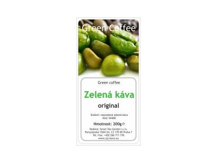 Zelená káva mletá sáček 200g