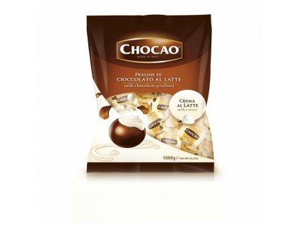 Vergani Chocao Latte Pralinka plněná mléčným krémem 1kg
