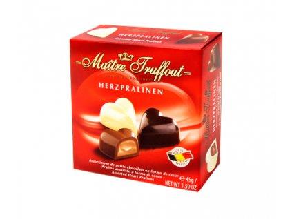 Maitre Truffout Čokoládová Srdíčka 45g