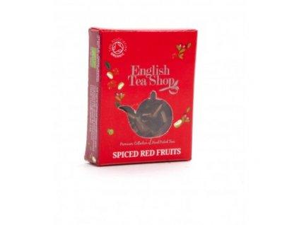 English Tea Shop certifikovaný bio čaj kořeněné červené ovoce, hedvábná pyramidka