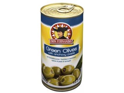 Zelené olivy plněné ančovcičkami 350 ml