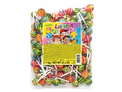Woogie lízátko ovocné kulaté 10g 100ks sáček