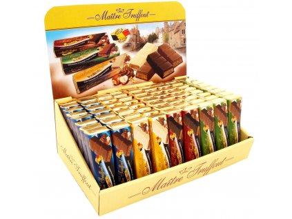 Maitre Truffout čokoládové tyčinky mix příchutí 75g 72ks
