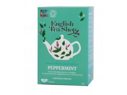 English Tea Shop certifikovaný bio a fairtrade čaj čistá máta 20 sáčků