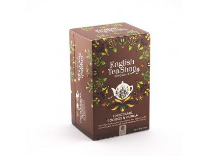 English Tea Shop vynikající Bio čaj čokoláda, rooibos, vanilka 20 sáčků