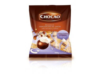 Vergani Chocao fialové mléčné čokoládový pralinky s mléčným krémem a cereáliemi 1kg