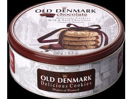 Jacobsens máslové sušenky s kousky čokolády Old Denmark 150g