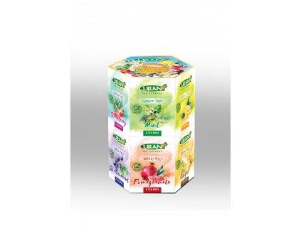 Liran Hexagonal kolekce bílých a zelených čajů 144g