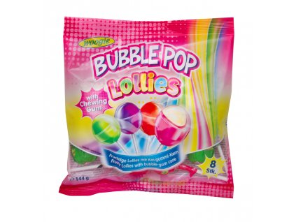 Woogie Lízátko se žvýkačkou Bubble pop 144g