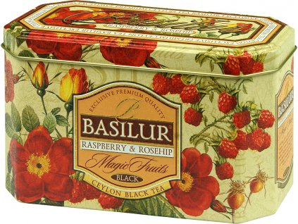 Basilur Magic Raspberry & Rosehip plech 20x2g