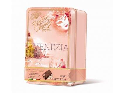 Vergani Latta Venezia Pralinky z mléčné čokolády s lískooříškovým krémem a nugátem 100g