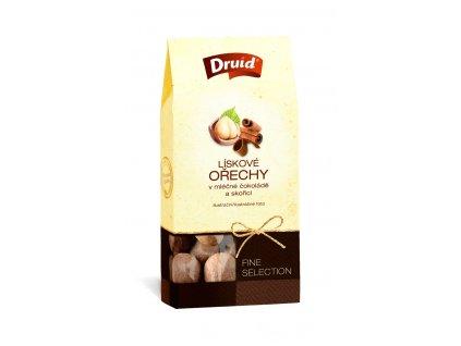 Lískové oříšky v mléčné čokoládě a skořicí De Lux 80g