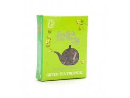 English Tea Shop BIO zelený čaj s infizí tropického ovoce, hedvábná pyramidka
