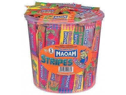 Haribo Maoam Stripes Ovocné žvýkací karamelky 150ks Dóza