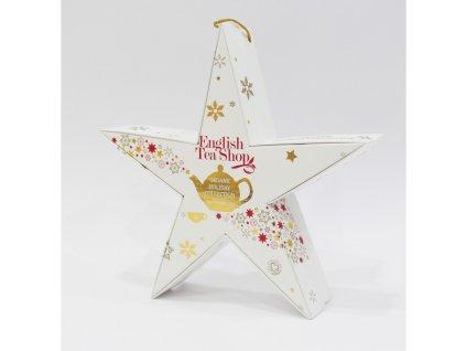 English Tea Shop Červená a zlatá hvězda 6 pyramidek