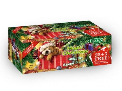 Liran Magic Christmas Zelený čaj s příchutí 25+5x2g