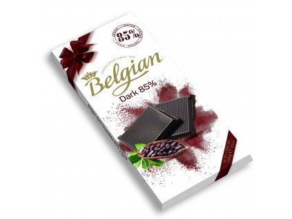 Belgian hořká čokoláda 85% 100g