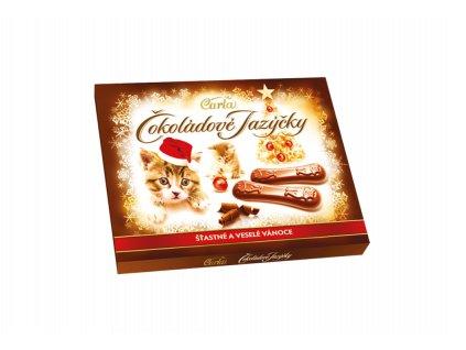Carla Čokoládové jazýčky Šťastné a Veselé Vánoce 100g