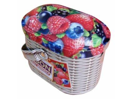 Tipson Basket Forest Berries Černý sypaný čaj s ovocem v plechovém balení 100g