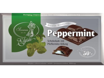 Elysia peppermint Hořká čokoláda s náplní peppermint 100g