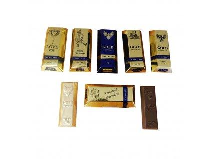 Fikar Zlatá cihlička z mléčné čokolády mix motivů 30g