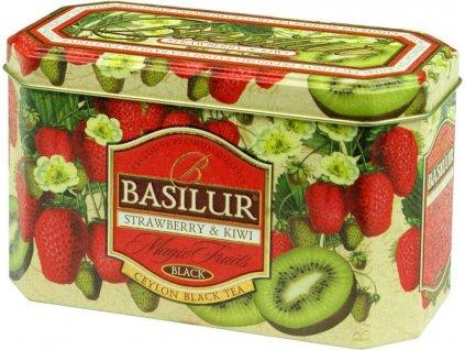 Basilur Magic Fruit Strawberry & Kiwi Černý čaj jahoda, kiwi plech 20x2g