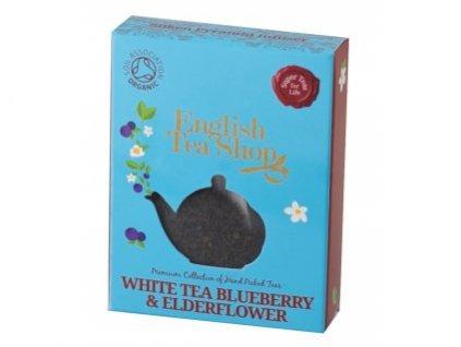 English Tea Shop Bílý čaj s bezinkou a borůvkou jednotlivá pyramidka