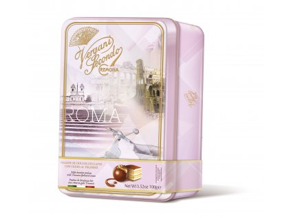 Vergani Latta Roma Italské plněné pralinky v plechové dóze 100g