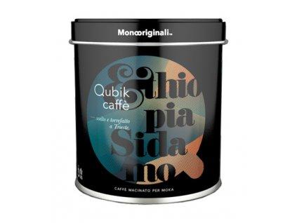 Qubik Caffé Ethiopia Sidamo Mletá káva 125g