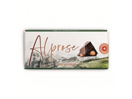 Alprose Švýcarská hořká čokoláda s lískovými ořechy 300g