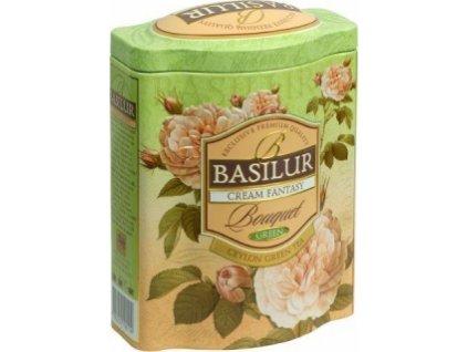 Basilur Bouquet Cream Fantasy Zelený čaj s kousky ovoce plech 100g